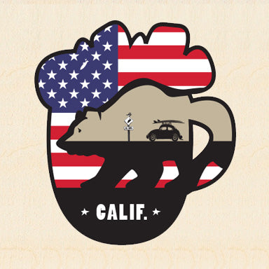 COL BEER ~ USA MUG ~ CALIF ~ 6x6
