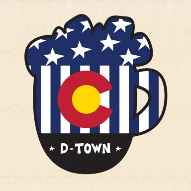 COL BEER ~ COLORADO USA MUG ~ DURANGO ~ 6x6