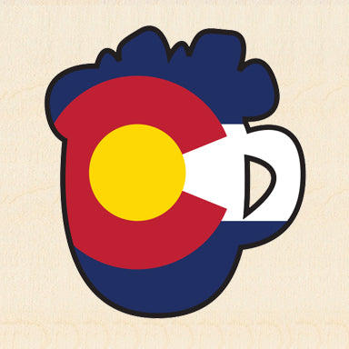 COL BEER ~ COLORADO MUG ~ 6x6