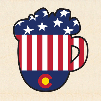COL BEER ~ COLORADO USA MUG ~ 6x6