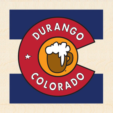 DURANGO ~ COL BEER ~ CO FLAG ~ 6x6
