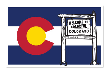 WELCOME TO COLORADO  ~ STICKERS (15) ~ 4x3