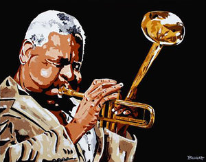 DIZZY GILLESPIE ~ MIDNIGHT BRASS ~ ORIGINAL ~ 48x60