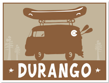 DURANGO ~ RAFT BUS  ~ STICKERS (15) ~ 4x3