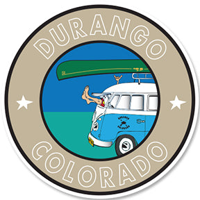 DURANGO COLORADO ~ GREM 10 ~ BUS CANOE ~ STICKERS (15) ~ 3