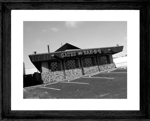 KANSAS CITY ~ GATES AND SONS BBQ ~ FRAMED PRINT ~ MAT ~ 16x20