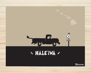 OAHU ~ CATCH A SURF ~ HALEIWA ~ PICKUP ~ BLACK N TAN ~ BAMBOO