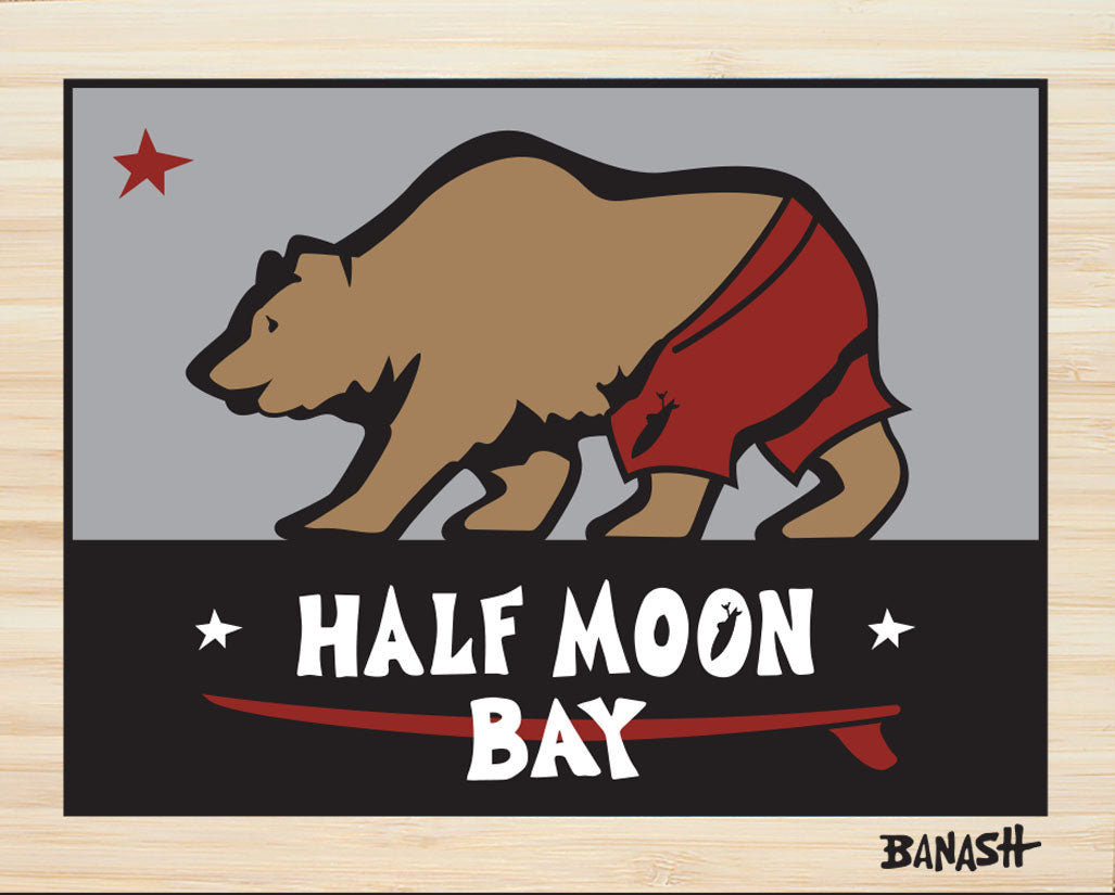 HALF MOON BAY ~ CATCH A BEAR ~ SURF TRUNKS ~ STONE GREMMY ~ BAMBOO