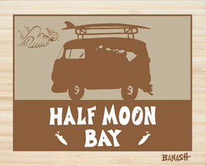 HALF MOON BAY ~ CATCH SAND ~ BUS ~ BAMBOO