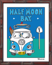 Load image into Gallery viewer, HALF MOON BAY ~ VW BUS GRILL ~ HWY 1 ~ BAMBOO FRAME