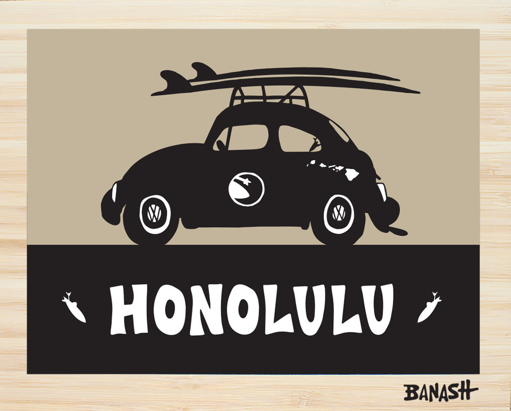 OAHU ~ CATCH A SURF ~ HONOLULU ~ BUG ~ BLACK N TAN ~ BAMBOO