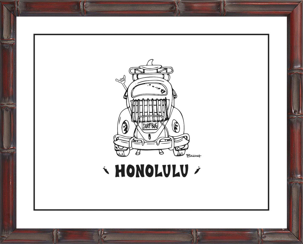 OAHU ~ CATCH A LINE ~ HONOLULU ~ BUG ~ BAMBOO FRAME