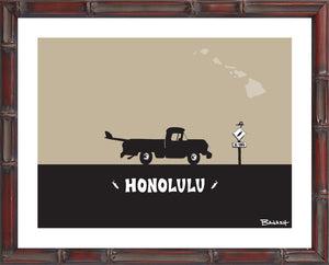 OAHU ~ CATCH A SURF ~ HONOLULU ~ PICKUP ~ BAMBOO FRAME