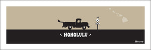 OAHU ~ HONOLULU ~ CATCH A SURF ~ PICKUP ~ BLACK N TAN