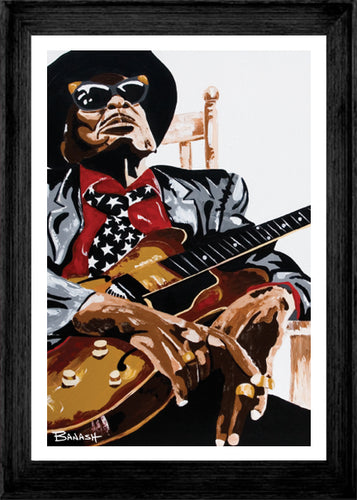 HWY101BLUES ~ JOHN LEE HOOKER ~ CRAWLIN KINGSNAKE ~ 12x18 FRAMED PRINT