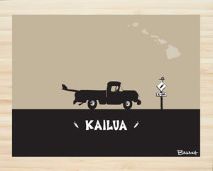 OAHU ~ CATCH A SURF ~ KAILUA ~ PICKUP ~ BLACK N TAN ~ BAMBOO