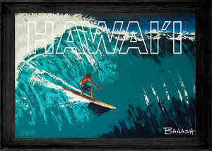 PIONEERS OF SURF ~ LEFT FACE ~ HAWAII ~ FRAMED PRINT ~ 12x18