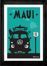 Load image into Gallery viewer, MAUI ~ SURF BUS GRILL ~ HWY 31 ~ FRAMED PRINT ~ 12x18