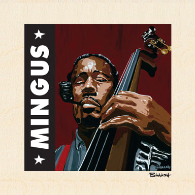 HWY101BLUES ~ CHARLES MINGUS ~ UPRIGHT ~ JAZZ SERIES ~ BIRCH WOOD PRINT ~ 6x6