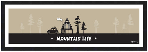MOUNTAIN LIFE ~ SKI BUG ~ A FRAME HUT ~ 8x24