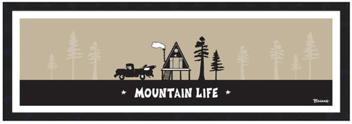 MOUNTAIN LIFE ~ PICKUP KAYAK ~ A FRAME HUT ~ 8x24