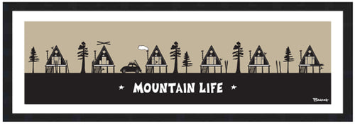MOUNTAIN LIFE ~ SKI HUTS ~ 8x24