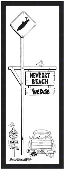 NEWPORT BEACH ~ THE WEDGE ~ 8x24