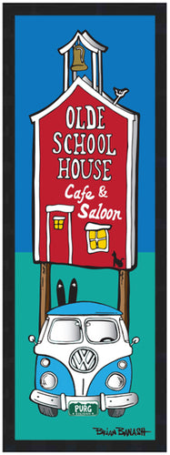 OLDE SCHOOLHOUSE ~ SIMPLE SKI BUS ~ 8x24