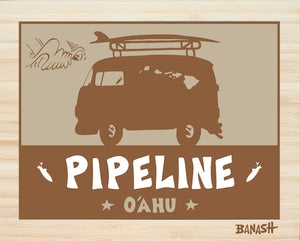 OAHU ~ CATCH SAND ~ PIPELINE ~ BUS ~ BAMBOO