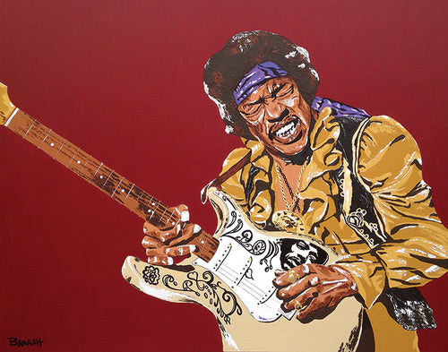 JIMI HENDRIX ~ RED HOUSE ~ CANVAS PRINT ~ 16x20