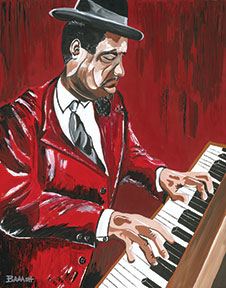 HWY101BLUES ~ THELONIOUS MONK ~ RED MONK ~ CANVAS PRINT