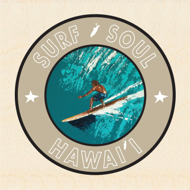 RIGHT FACE ~ SURF SOUL ~ HAWAII ~ 6x6