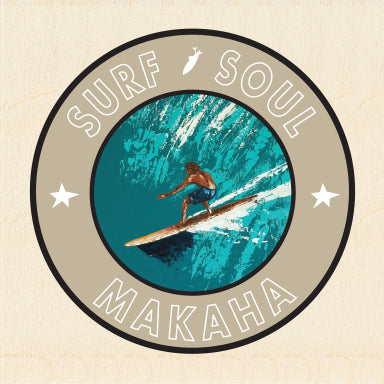 RIGHT FACE ~ SURF SOUL ~ MAKAHA ~ 6x6
