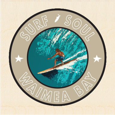 RIGHT FACE ~ SURF SOUL ~ WAIMEA BAY ~ 6x6