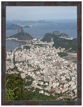 Load image into Gallery viewer, BRAZIL ~ RIO DE JANEIRO ~ DISTANT SUGAR LOAF ~ BAMBOO FRAMED PRINT ~ 11x14