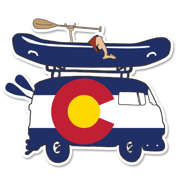 COLORADO RIVER RAFT GREM BUS ~ STICKERS (15) ~ 4x3