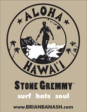 Load image into Gallery viewer, STONE GREMMY BRAND ~ BE GREM ~ STACKED ~ HAWAII ~ WHITE ~ HAT