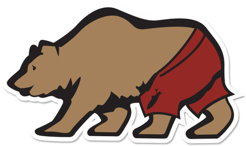 STONE GREMMY SURF ~ CALIF BEAR TRUNKS ~ STICKER ~ 5