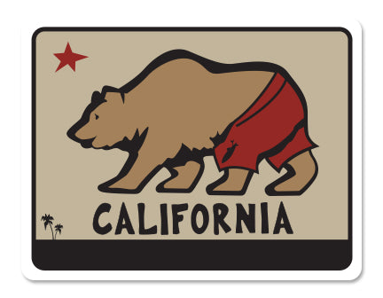 CALIFORNIA BEAR ~ TRUNKS ~ STICKERS (15) ~ 4x3