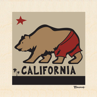 STONE GREMMY SURF ~ CALIFORNIA BEAR ~ 6x6
