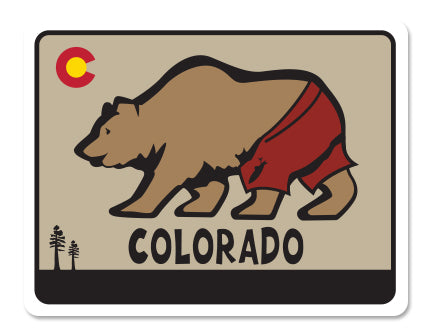 COLORADO BEAR TRUNKS ~ STICKERS (15) ~ 4x3