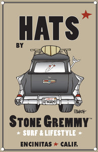 STONE GREMMY ~ TEAM RIDER ~ O-SIDE ~ HAT