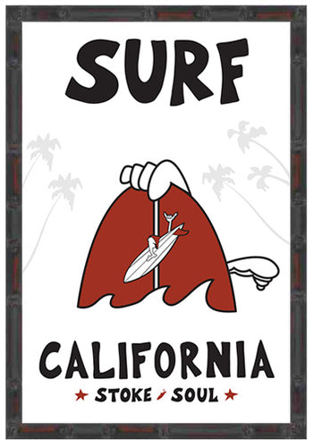 SURF CALIFORNIA ~ ORIGINAL ~ 12x18
