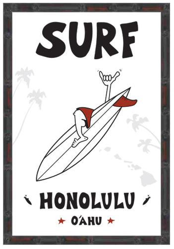 SURF HONOLULU ~ 12x18