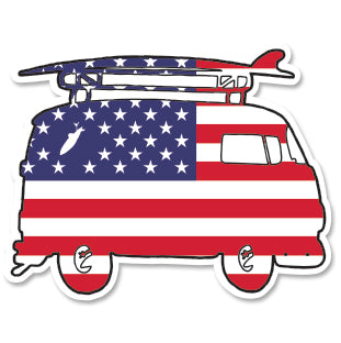 USA SURF BUS ~ STICKERS (15) ~ 3