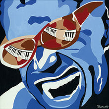Load image into Gallery viewer, RAY CHARLES ~ SHADED KEYS ~ CANVAS PRINT ~ 12x12