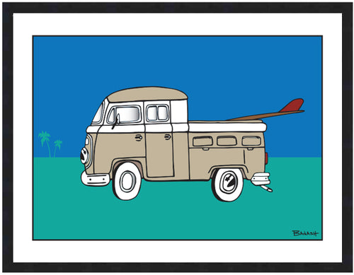 SIMPLE SURF TRUCK BUS ~ 16x20