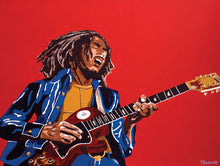 Load image into Gallery viewer, BOB MARLEY ~ SOUL REBEL ~ CANVAS PRINT ~ 16x20