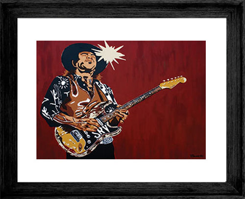 STEVIE RAY VAUGHAN ~ SRV FLOOR IT ~ 16x20