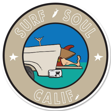 SURF SOUL CALIF ~ TAILGATE GREM ~ STICKERS (15) ~ 3